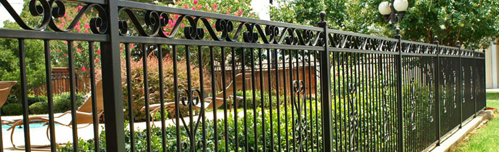wrought iron privacy fence.  Wrought Huffman Fence Wood Fencing Ornamental Metal Fences Wrought Iron   Huffman TX On Privacy Fence S